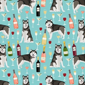 Alaskan Malamute wine champagne cocktails light but