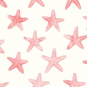 starfish peach and light teal - mermaid coordinate