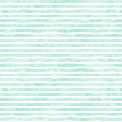 (small scale) watercolor stripe light aqua - mermaid coordinate fabric by littlearrowdesign on Spoonflower - custom fabric