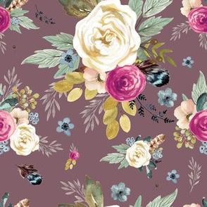 """8"""" Western Autumn Mauve Flower - Mauve"""