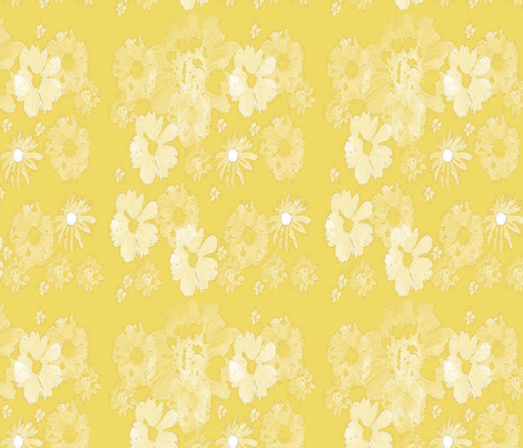 Yellow Floral fabric by snooky on Spoonflower - custom fabric