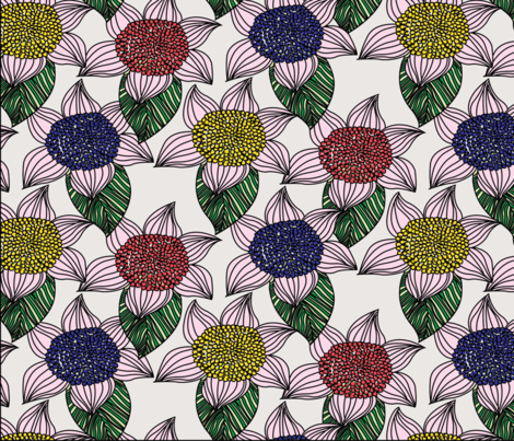 FLORAL PATTERN DESIGN -Abeer collection  fabric by sarajawdattdesigns on Spoonflower - custom fabric