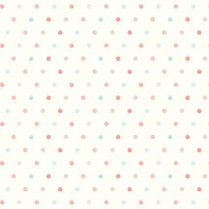 multi dot - mermaid coordinate - peach and light aqua