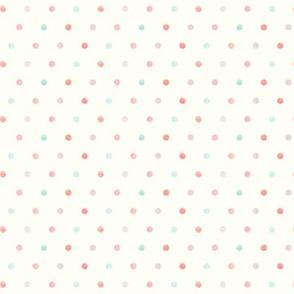 multi dot - mermaid coordinate - peach and light aqua