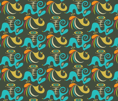 democracy grey fabric by andibird on Spoonflower - custom fabric