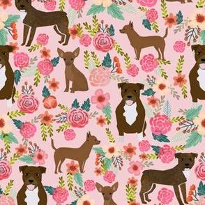 Custom pitbull and chihuahua fabric
