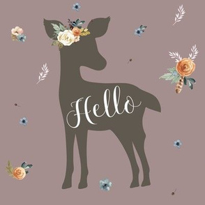 "8"" Western Autumn Hello Deer /  Mauve"