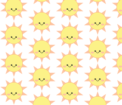 Sunshine_Kawaii fabric by sassysecret on Spoonflower - custom fabric