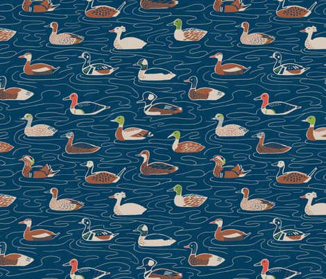 Duck, Duck... Duck fabric by caleb_luke_lin on Spoonflower - custom fabric