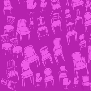 chair and chair alike/bijoux pink