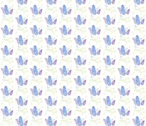Watercolor_Dalphinium_Plus fabric by meg_beth on Spoonflower - custom fabric