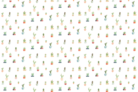 cacti fabric by martaro on Spoonflower - custom fabric