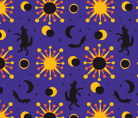 Early Night fabric by gray___ on Spoonflower - custom fabric