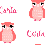 custom name owl fabric
