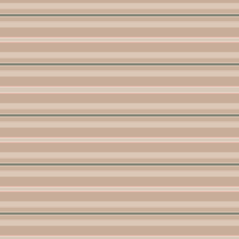 Beige and Green Horizontal Stripe fabric by gingezel on Spoonflower - custom fabric