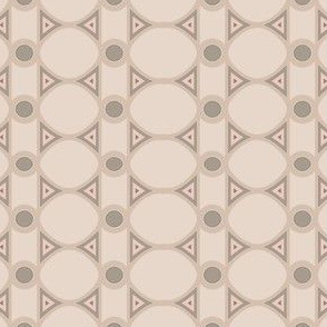 Dawn Sand Stripe and Oval Pattern