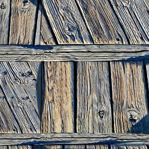 Weathered dock wood