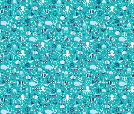 I_do_like_to_be_beside_the_seaside_1 fabric by sovendebjorn on Spoonflower - custom fabric