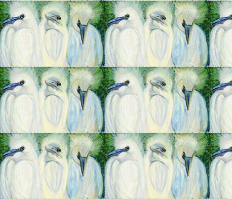 CrazyHairBirds-12x19 fabric by ljmonroeduprey on Spoonflower - custom fabric