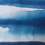Blue Wide Brushstripes