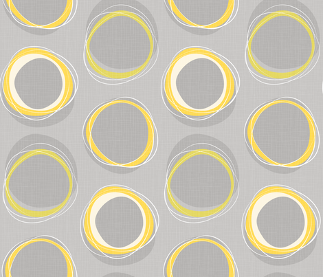 Solar Eclipse: MCModern_Yellow fabric by mia_valdez on Spoonflower - custom fabric