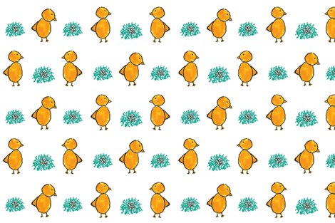 Little chickens fabric by ana_franco on Spoonflower - custom fabric