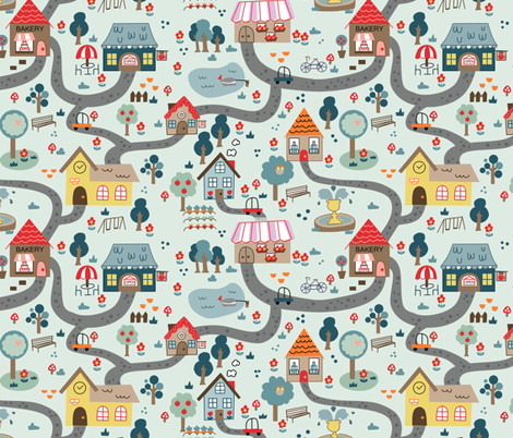 The Simple Life fabric by kathrinlegg on Spoonflower - custom fabric