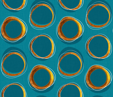 Solar Eclipse: MCModern_Gold and Blue fabric by mia_valdez on Spoonflower - custom fabric