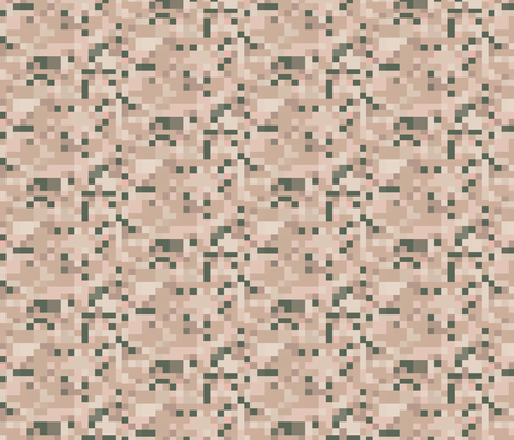 Beige and Green Check fabric by gingezel on Spoonflower - custom fabric