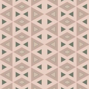 Beige and Green Triangles