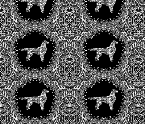 golden_santa_fe_3 fabric by inspiration_of_the_soul on Spoonflower - custom fabric