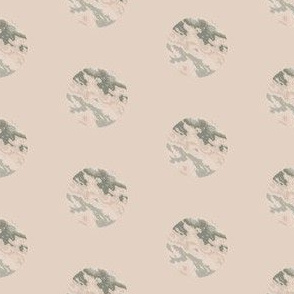 Beige and Green Marble Dot
