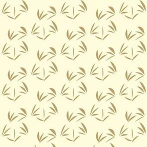 Taupe OrientalTussocks on Magnolia Cream - Small Scale