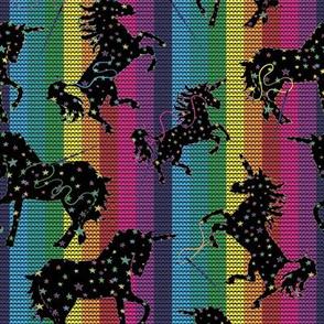 Unicorns and Rainbows Cross Stitch night