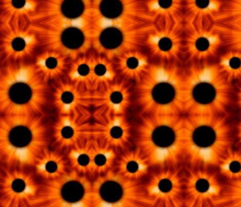 Solar Eclipse Kaleidoscope  fabric by ally_the_junebug on Spoonflower - custom fabric