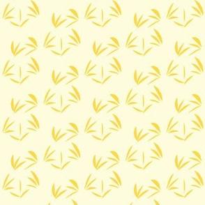 Pineapple Passion Oriental Tussocks on Magnolia Cream - Small Scale