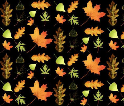 Autumn Leaves fabric by vividreverie on Spoonflower - custom fabric