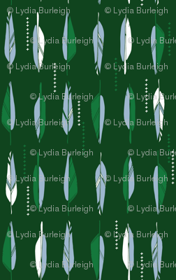 Feathers in green