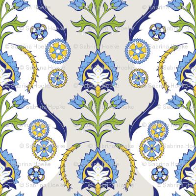 Swedish Damask Blue