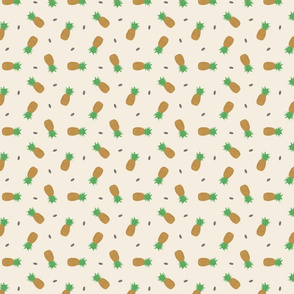 Tiny Pineapples - tan