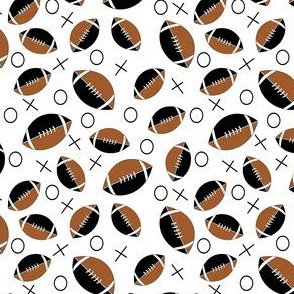 football  black, tan and white