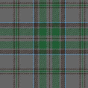 "Wicklow County tartan, 6"" weathered grey"