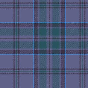 "Wicklow County tartan, 6"" blue"