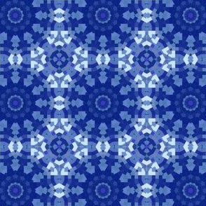 Blueberry Blue Kaleidoscope