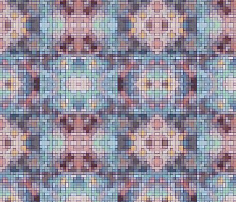 Bohemian Pixels fabric by flutterbi on Spoonflower - custom fabric