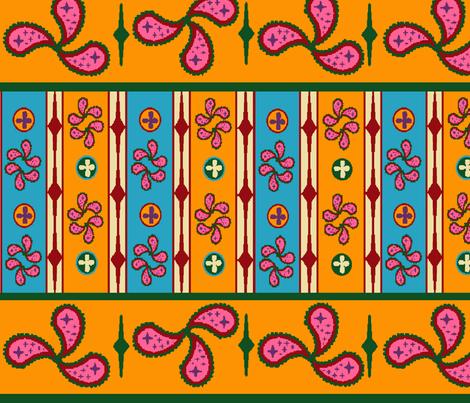Bohemian_in_Stripes fabric by hobbitrosie on Spoonflower - custom fabric