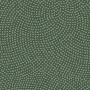Fibonacci-flower polkadots - slate on olive