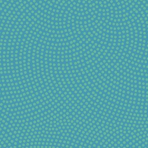 Fibonacci-flower polkadots - ocean blue