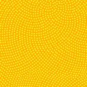 Fibonacci-flower polkadots - dotgold