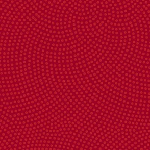 Fibonacci-flower polkadots - ruby red